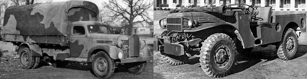 Dodge в военные и послевоенные годы